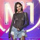 Bruna Marquezine estava no Camarote Nº1 com blusa transparente