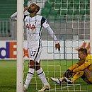 Lucas Moura comemora o gol sobre o Ludogorets Razgrad, o segundo do Tottenham na vitória por 3x1