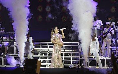 Em 2018, a artista fez um dos últimos shows antes do nascimento das gêmeas Marina e Helena