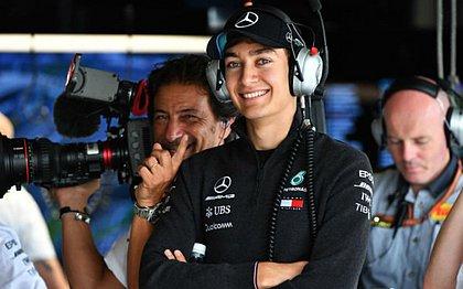 George Russell foi piloto reserva da Mercedes em 2018