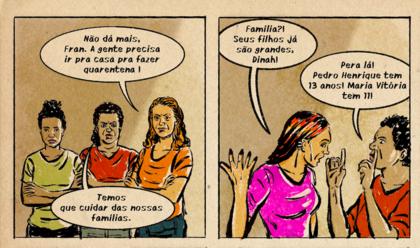 Quadrinhos denunciam abusos sofridos por empregadas domésticas na pandemia