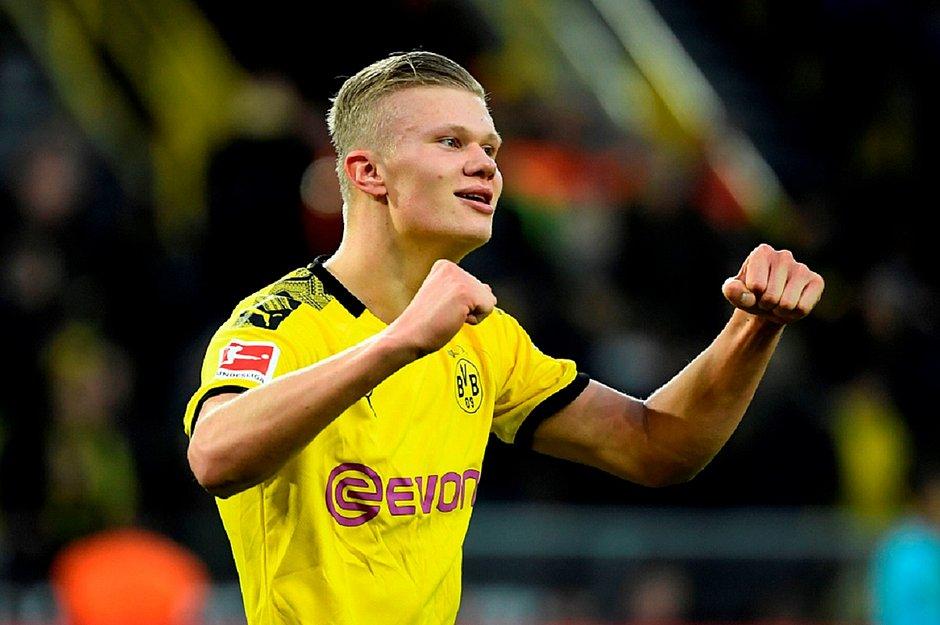 O norueguês Haaland chegou a 8 gols pelo Dortmund