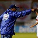 Roger Machado na partida contra o Flamengo, a última dele pelo Bahia