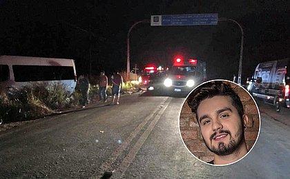 Van de Luan Santana é atingida por caminhonete; motorista quebra costelas