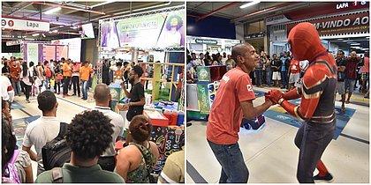 Evento gratuito causa burburinho na Estação da Lapa