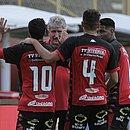 Alisson Farias, Geninho, Jean e Rodrigo Andrade durante o jogo contra o River, em março, pelo Nordestão