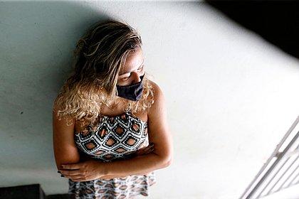 A contadora Joicy Moreira, 35 anos, ficou seis dias internada pelas complicações da covid-19: teve alta esta semana