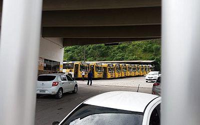 Ônibus não saíram da garagem da empresa Plataforma, em Praia Grande