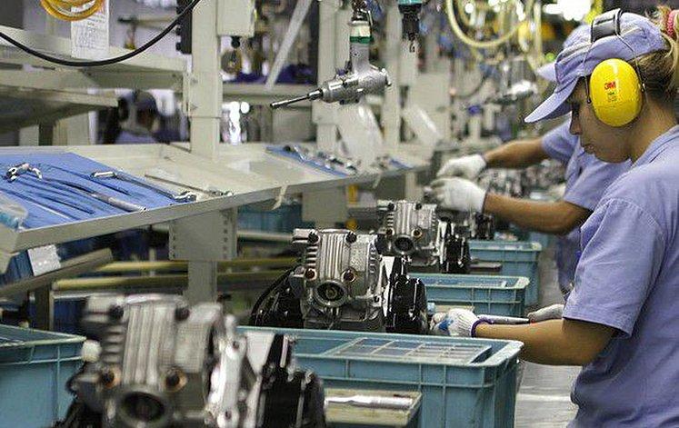 produção industrial