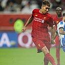 Firmino aproveita cruzamento para de Alexander-Arnold para dar vitória ao Liverpool