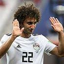 Warda, da seleção do Egito, em foto da Copa do Mundo de 2018