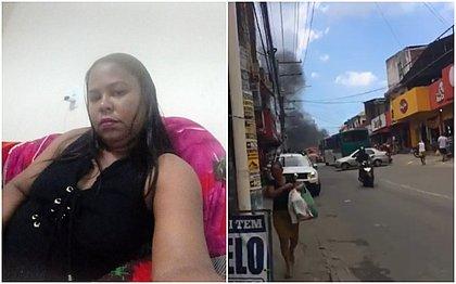 Franciana Cerqueira Santos Dantas, morreu vítima de bala perdida; na manhã deste sábado (19), moradores e amigos de Franciana fizeram um protesto