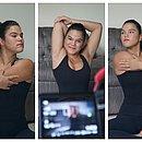 A professora de dança, Lorena Albergaria, conta que as empresas pediram para que os profissionais gravassem vídeoaulas