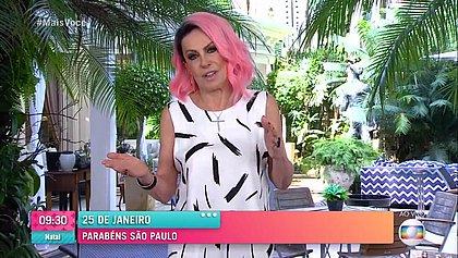 Ana Maria Braga surge de cabelo rosa e diz que se inspirou em Naruto