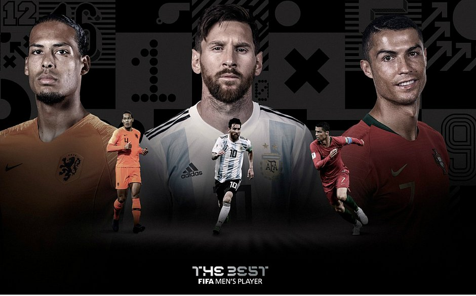 Van Dijk, Messi e Cristiano Ronaldo são os finalistas do prêmio melhor do mundo da Fifa