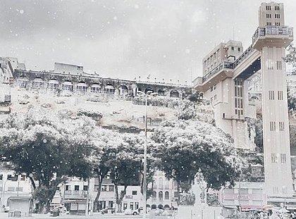 Internautas brincaram sobre temperatura baixa, dizendo que iria nevar em Salvador