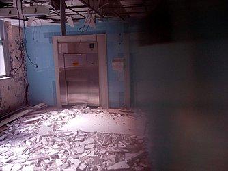 Imagens enviadas por funcionários que mostram a estrutura interna do Hupes