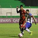 Gilberto marcou de canhota o gol da vitória tricolor