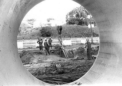 Obras do Bahia Azul, em 1996