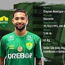 Clayson vai defender o Cuiabá na primeira divisão do Brasileirão
