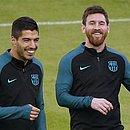 Colegas no Barcelona, Suárez e Messi são os craques do Uruguai e da Argentina, embora Messi não esteja indo para a seleção