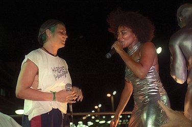 Com Cássia Eller no Carnaval 1998