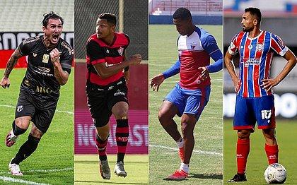 Vina, Samuel, David e Gilberto, destaques de Ceará, Vitória, Fortaleza e Bahia respectivamente