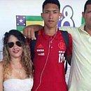 Foto de domingo, quando Athila se despediu dos pais, Diana e Damião, em Sergipe
