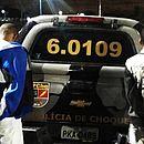 Railson Pereira Santos, 25 anos, e Alessandro Reis Neris, 30, tentaram fugir, mas foram presos