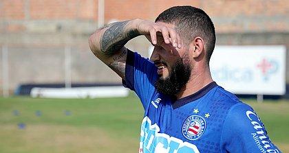 Arthur Caíke está treinando no Fazendão e pode estrear contra o Fortaleza, pela Copa do Nordeste