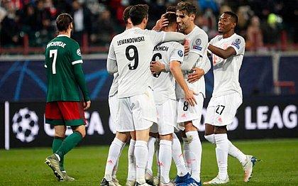 Bayern venceu o Lokomotiv, em Moscou, por 2x1