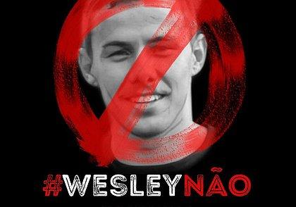 Imagem da campanha lançada por torcedores do Vitória contra a contratação do atacante Wesley Pionteck