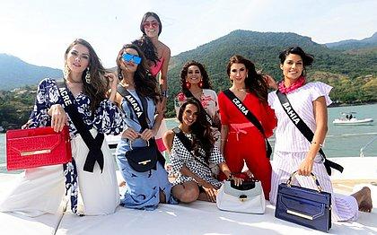 Candidatas que participarão do Miss Brasil em Ilhabela, no litoral de São Paulo