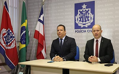Os delegados Flávio Góis e Marcelo Sansão