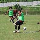 Com portões fechados, elenco do Leão treinou na Toca de olho no confronto com o Criciúma