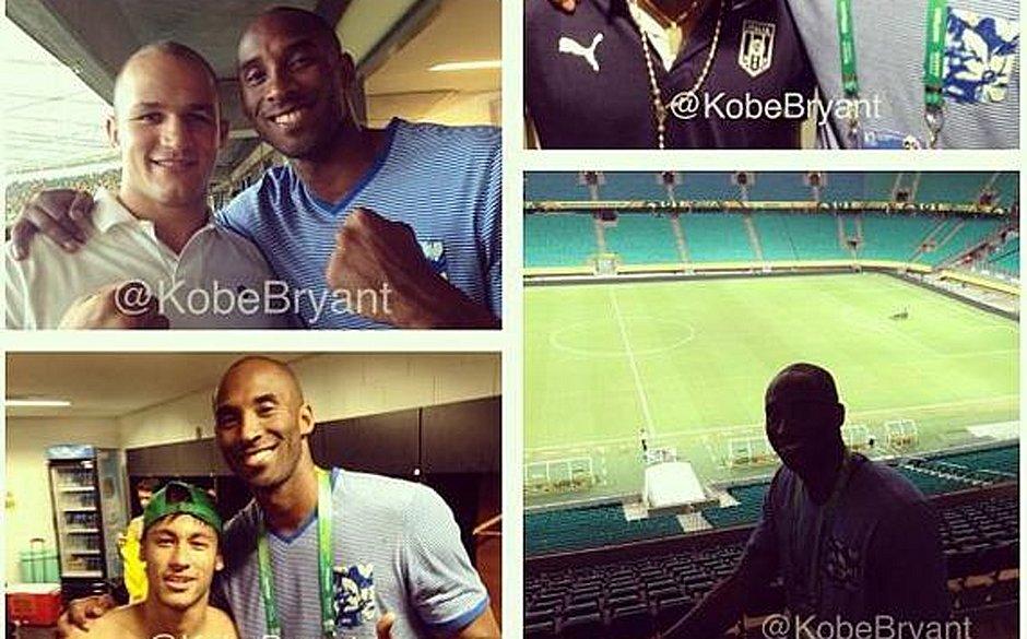 Kobe registrou momentos com Júnior Cigano e Neymar na Fonte Nova em 2013