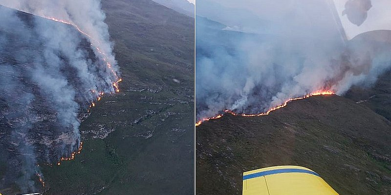 Fogo no Parque Nacional da Chapada Diamantina é controlado por ICMBio