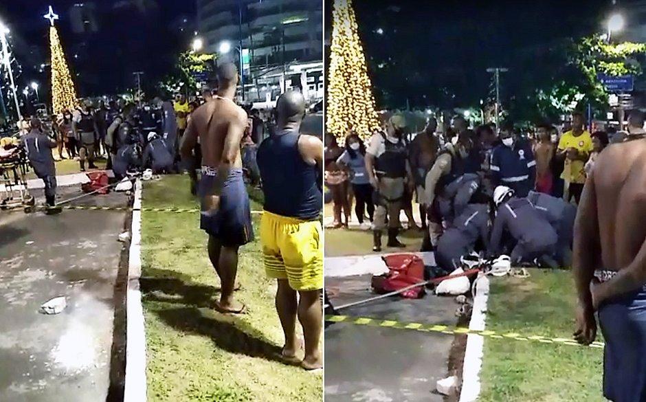 Criança fica presa em bueiro na Avenida Vasco da Gama