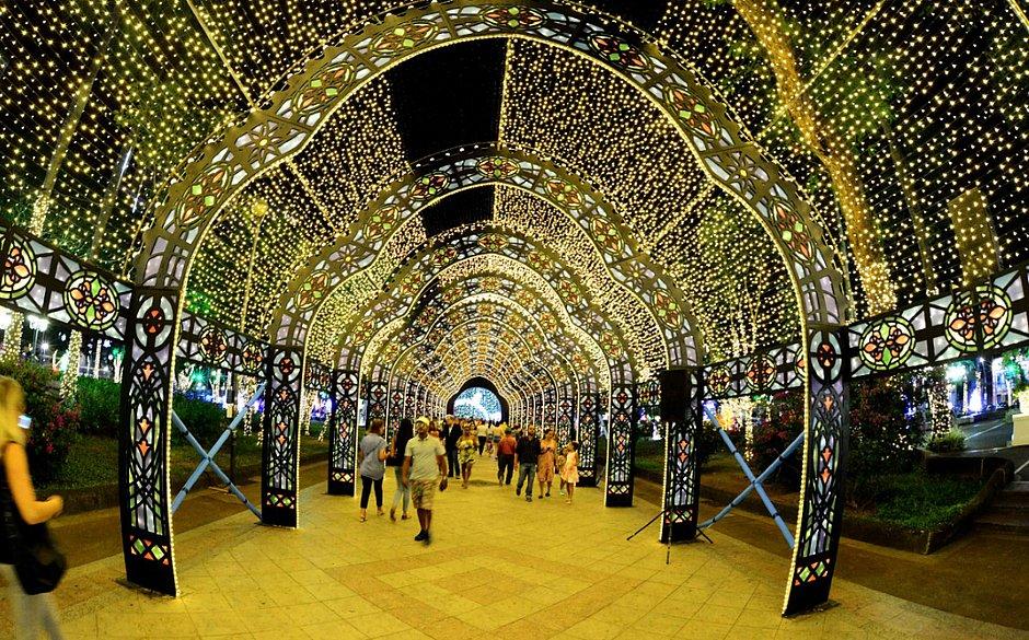 1,3 milhão de pessoas visitaram iluminação de Natal do Campo Grande