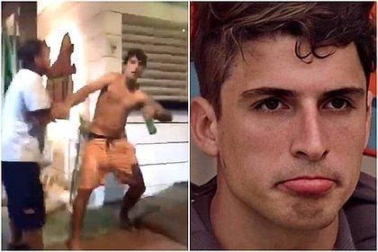 Ex-BBB Felipe Prior é filmado apanhando durante briga em Ilhabela (SP)