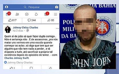 Homem é preso na Bahia após convocar atentado a escola em rede social