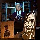 Biden na ocasião do funeral de George Floyd