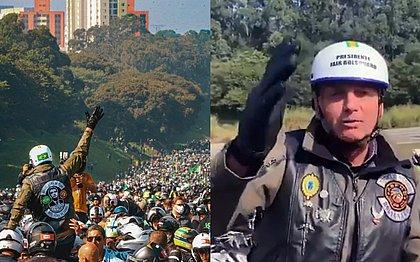 Motociata de Bolsonaro custou R$ 1,2 milhão aos cofres públicos, diz governo de SP