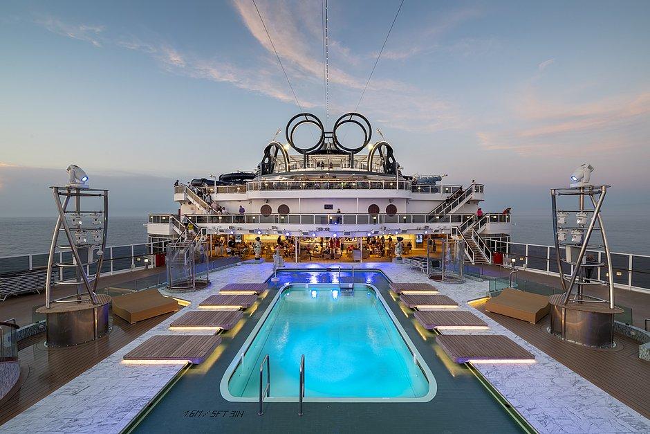 Gigante: a estrutura do MSC Seaview impressiona:  o navio tem mais de 320 metros de comprimento e uma altura de um prédio de 20 andares