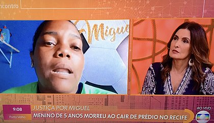 Fátima Bernardes chora ao ouvir fala da mãe do menino Miguel