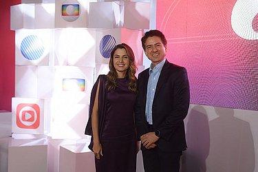 Renata Correia, diretora do CORREIO, com Paulo Cesena