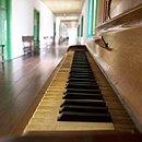 Piano alemão Schiedmayer Stuttgart, que pertenceu à UCSal