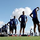 Jogadores do Bahia na Cidade Tricolor