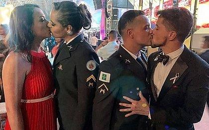 Beijo gay em formatura de PMs do Distrito Federal em janeiro de 2020