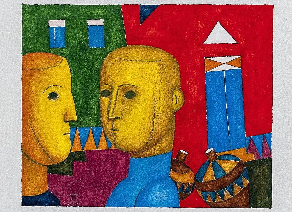 Exposição traz 180 pinturas sobre o silêncio dos sentimentos